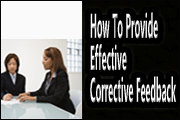 How To Provide Effective Corrective Feedback