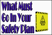 What Must Go In Your Safety Plan