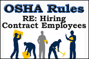 OSHA Rules Re Hiring Contract Employees