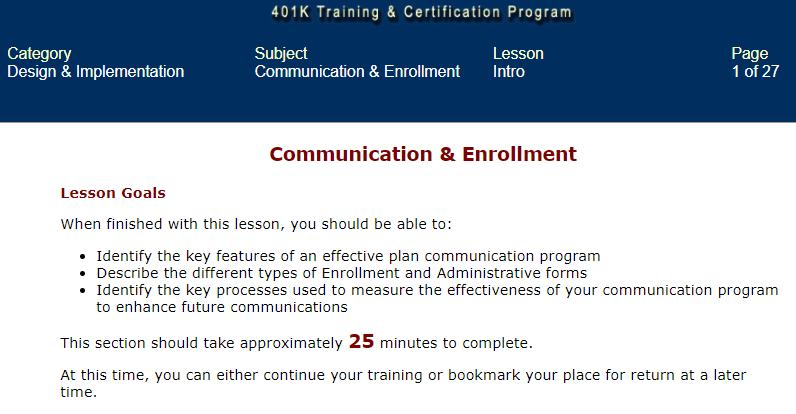 401(k) training
