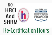 earn 60 hrci and shrm credits