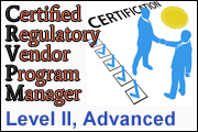 Certified Regulatory Vendor Program Manager - Level II, Advanced Course