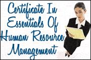 Certificate In Essentials Of Human Resource Management Seminar