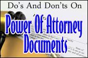 Do's And Don'ts On Power Of Attorney Documents
