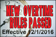 New DOL Overtime Rules Passed