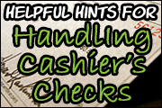 Vital Issues With Cashier�s Checks