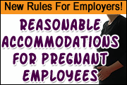 "New Rules Require Employers To Provide ""Reasonable Accommodations"" To Pregnant Employees"