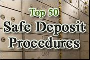 Top 50 Safe Deposit Procedures